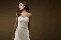 Ekrü színű A vonalú menyasszonyi ruha Mystic Moment Esküvői Ruhaszalon Gyömrő