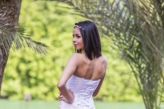 Rozsaszínű A vonalú menyasszonyi ruha Gyömrő 034