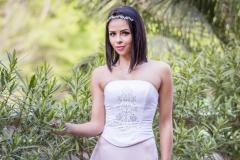 Rozsaszínű A vonalú menyasszonyi ruha Gyömrő 036