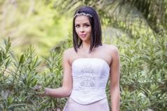 rozsaszínű menyasszonyi ruha Gyömrő 036 a Mystic Moment Esküvői Ruhaszalonban Gyömrőn